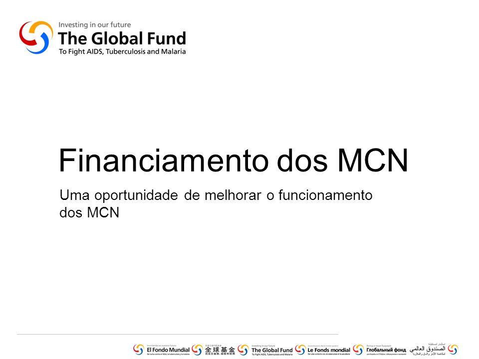 Síntese do financiamento dos MCN 87 MCN de um total de 131 têm recebido financiamento do Fundo Global desde 2008.