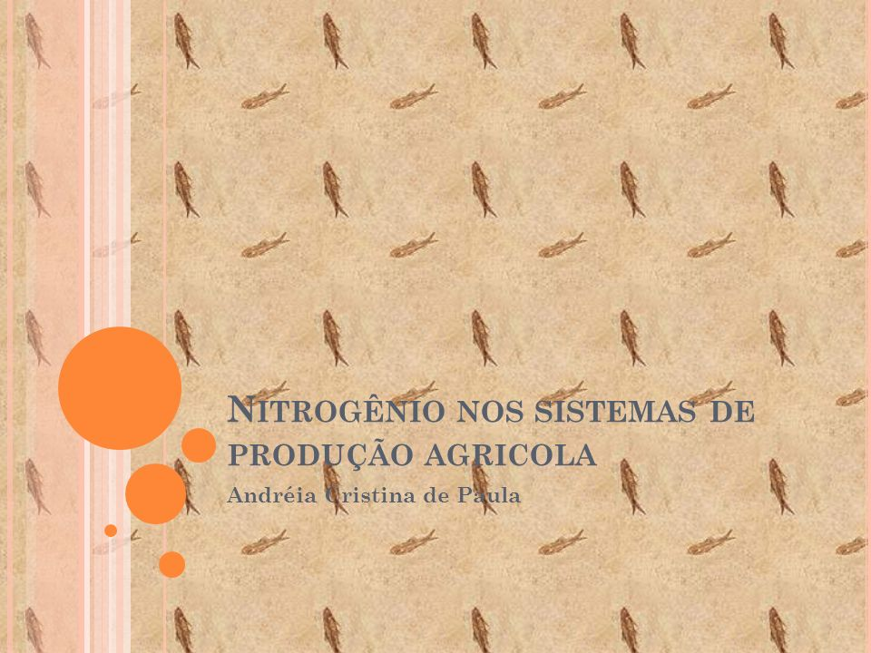 N ITROGÊNIO NOS SISTEMAS DE PRODUÇÃO AGRICOLA Andréia Cristina de Paula