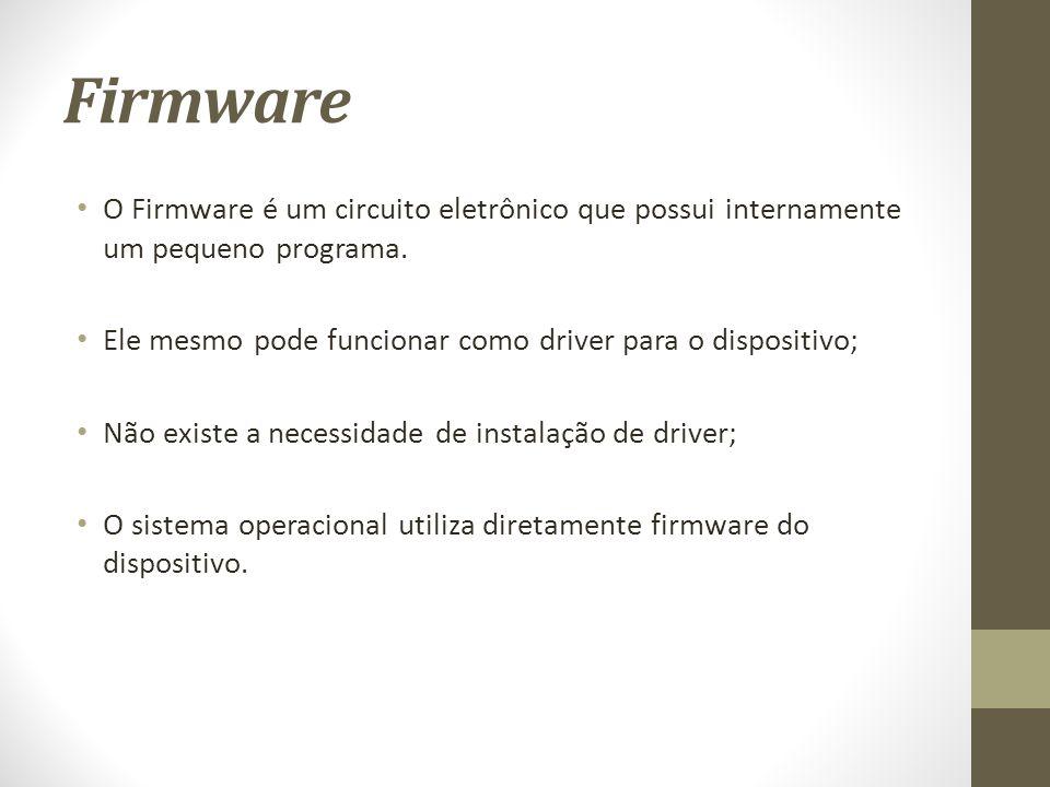 Firmware O Firmware é um circuito eletrônico que possui internamente um pequeno programa.