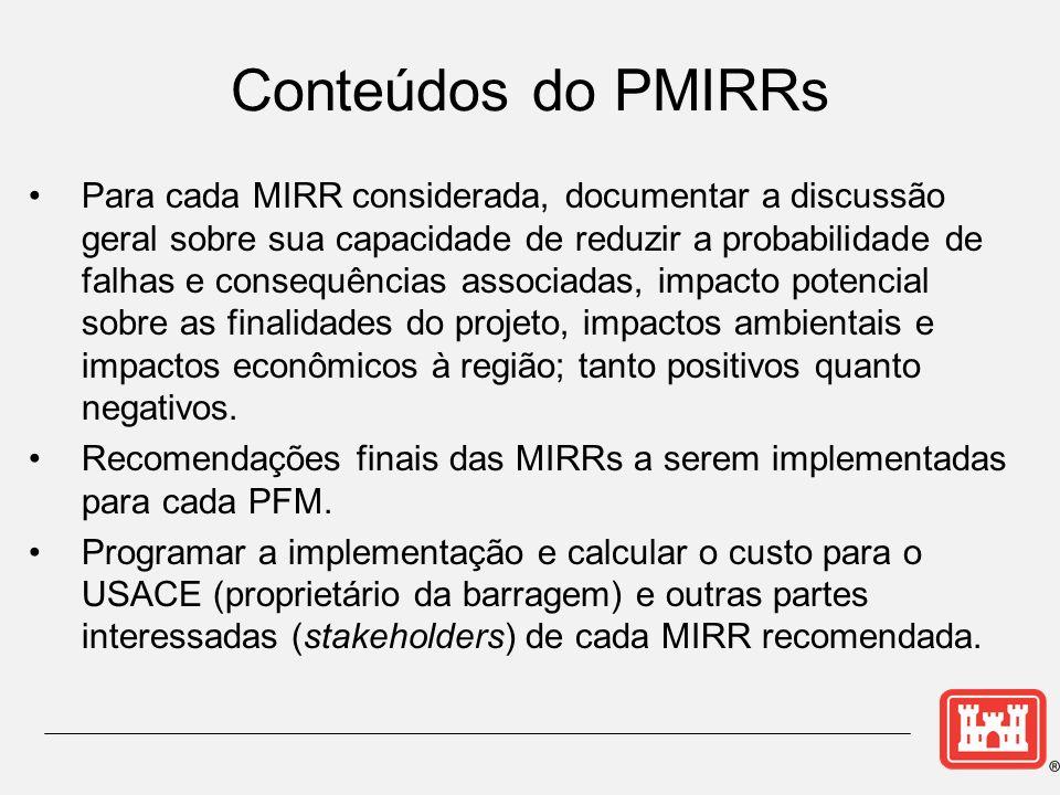 Para cada MIRR considerada, documentar a discussão geral sobre sua capacidade de reduzir a probabilidade de falhas e consequências associadas, impacto potencial sobre as finalidades do projeto, impactos ambientais e impactos econômicos à região; tanto positivos quanto negativos.