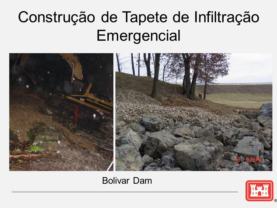 Bolivar Dam Construção de Tapete de Infiltração Emergencial