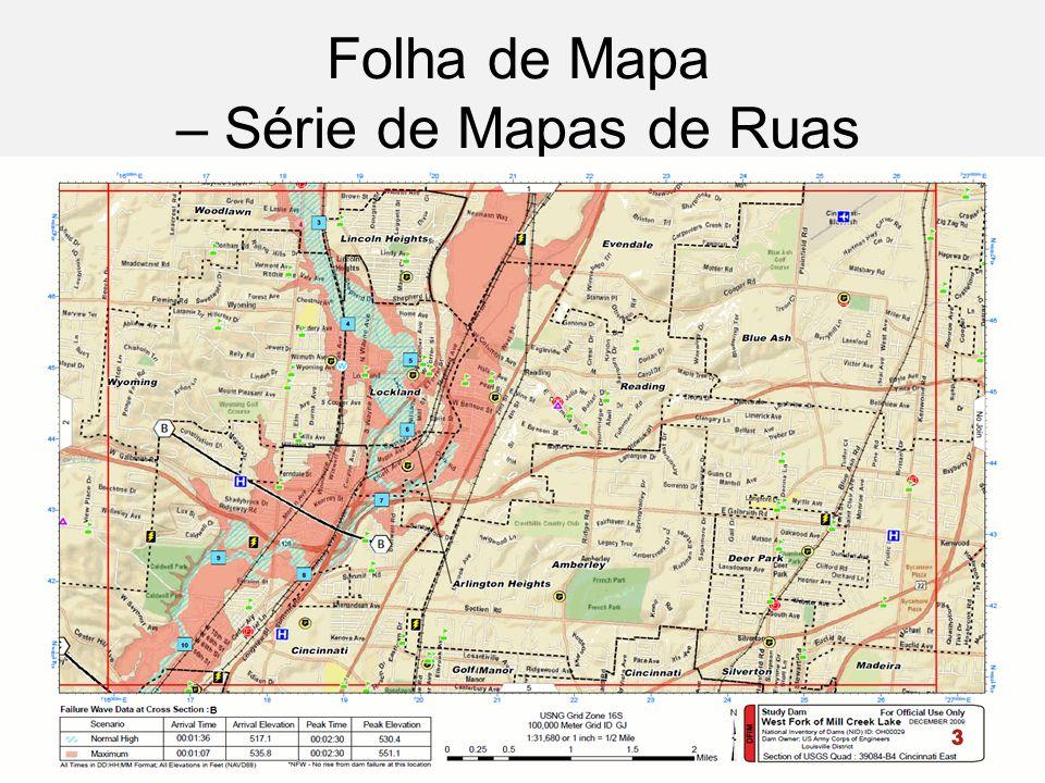 Folha de Mapa – Série de Mapas de Ruas