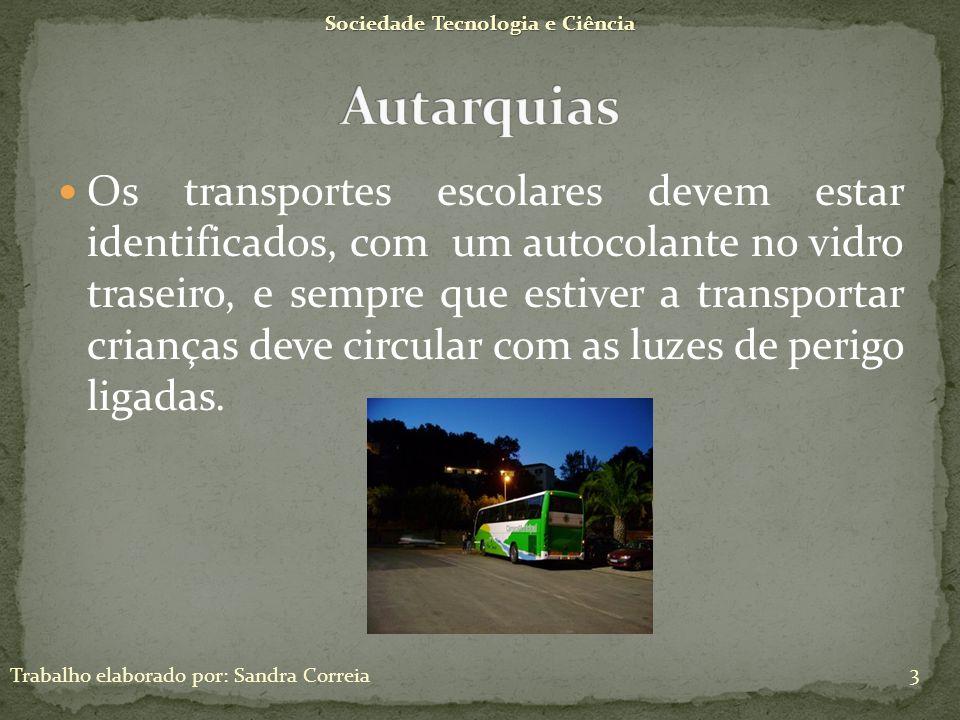 Sociedade Tecnologia e Ciência Trabalho elaborado por: Sandra Correia 14 Os pneus devem ser sempre de boa qualidade, para serem mais seguros, e resistirem melhor as diferenças climatéricas.