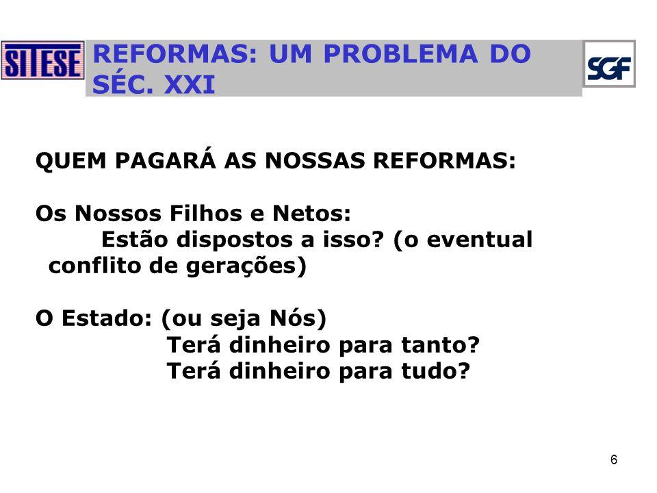 6 REFORMAS: UM PROBLEMA DO SÉC.