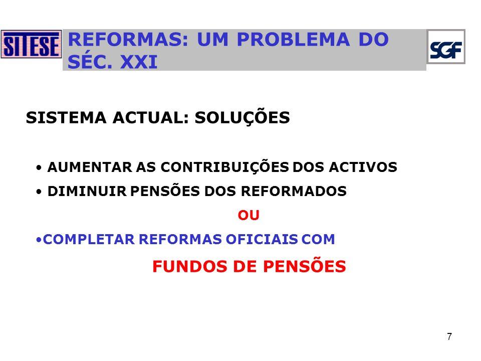 7 REFORMAS: UM PROBLEMA DO SÉC.