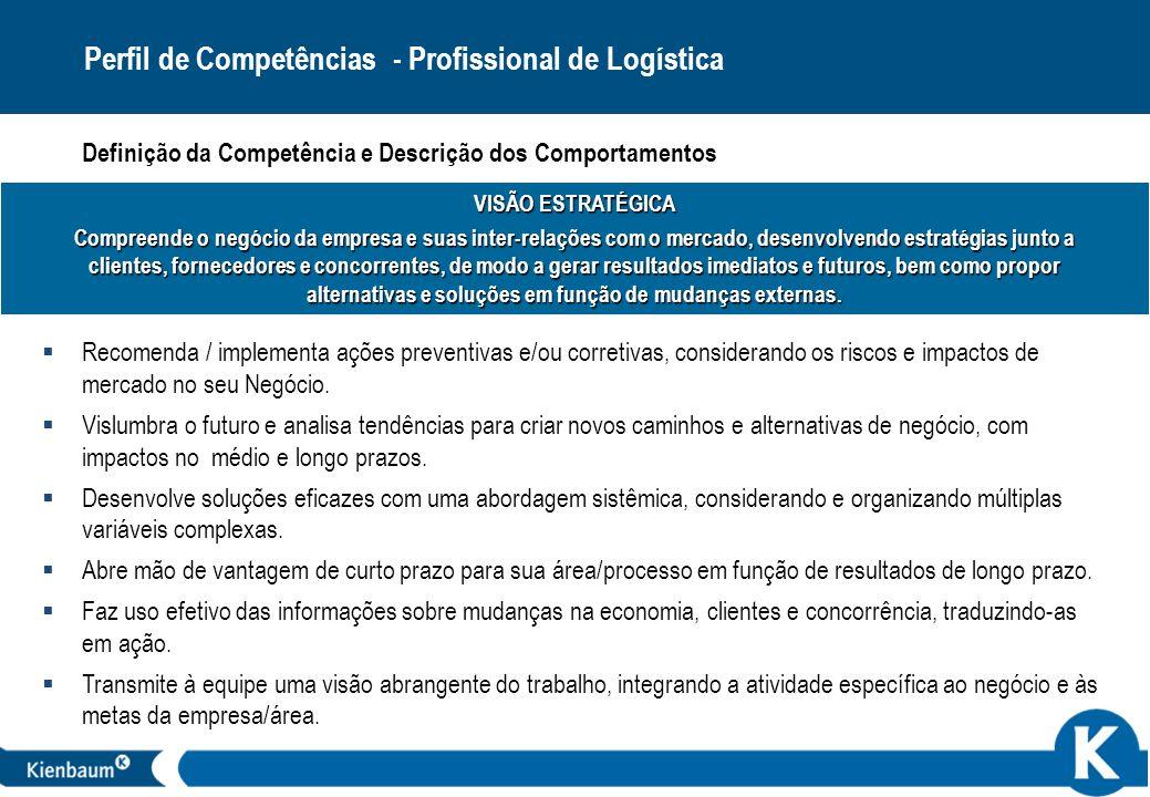 30 VISÃO ESTRATÉGICA Compreende o negócio da empresa e suas inter-relações com o mercado, desenvolvendo estratégias junto a clientes, fornecedores e c