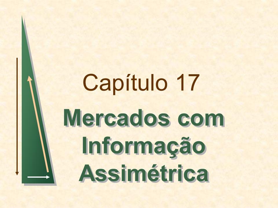 Capítulo 17 Mercados com Informação Assimétrica