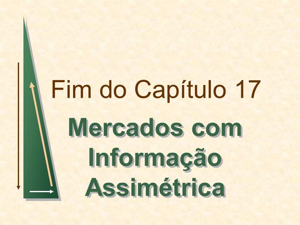 Fim do Capítulo 17 Mercados com Informação Assimétrica
