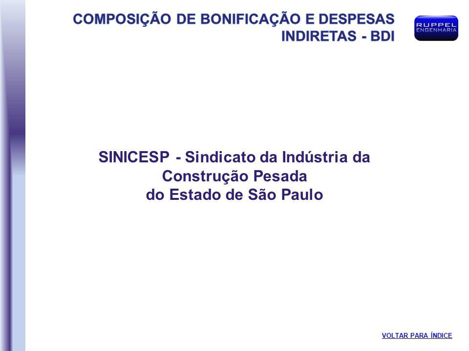 SINICESP - Sindicato da Indústria da Construção Pesada do Estado de São Paulo