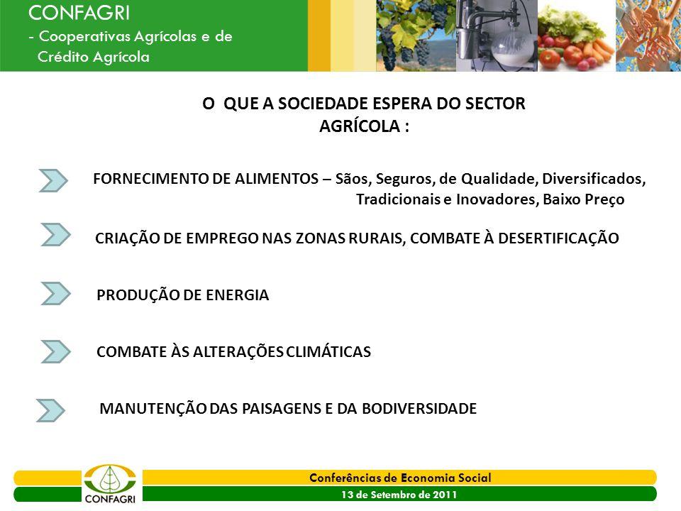 PRODER 2007 - 2013 Conferências de Economia Social 13 de Setembro de 2011 Ouvir o Sector CONFAGRI - Cooperativas Agrícolas e de Crédito Agrícola O QUE
