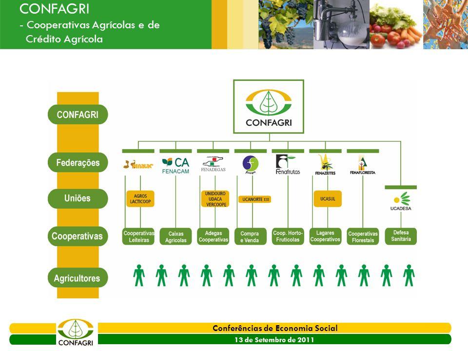 PRODER 2007 - 2013 Conferências de Economia Social 13 de Setembro de 2011 Ouvir o Sector CONFAGRI - Cooperativas Agrícolas e de Crédito Agrícola