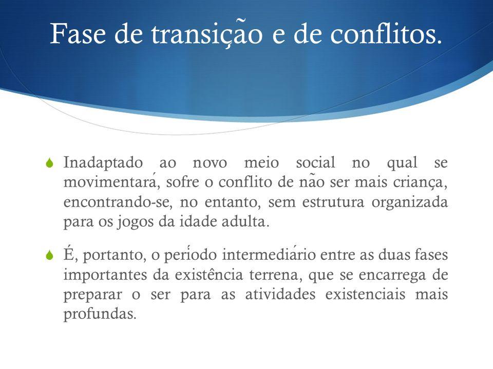Fase de transic ̧ a ̃ o e de conflitos.