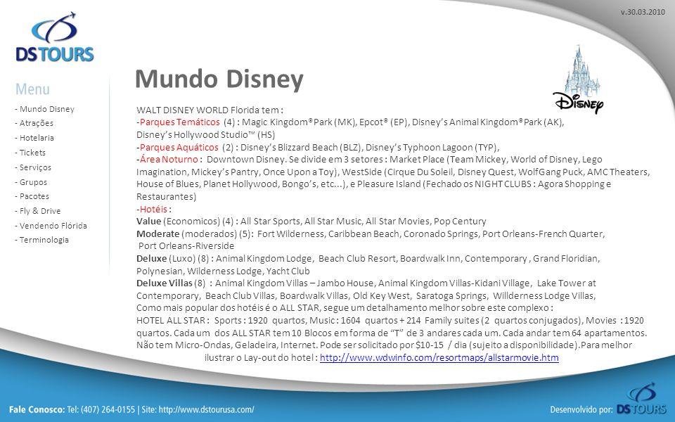 v.30.03.2010 - Mundo Disney Mundo Disney - Atrações Atrações - Hotelaria Hotelaria - Tickets Tickets - Serviços Serviços - Grupos Grupos - Pacotes Pacotes - Fly & Drive Fly & Drive - Vendendo Flórida Vendendo Flórida - Terminologia Terminologia Os números mágicos para grupos são: 14 (Maxi-Van), 25 (Mini-Bus), 49 (BUS) e 60 (Maxi-Bus).
