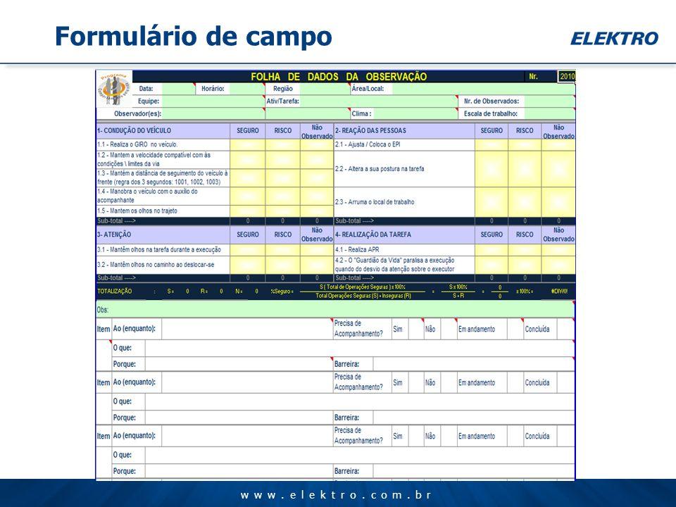 www.elektro.com.br Formulário de campo
