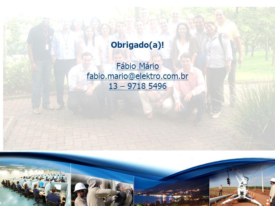 www.elektro.com.br Obrigado(a)! Fábio Mário fabio.mario@elektro.com.br 13 – 9718 5496