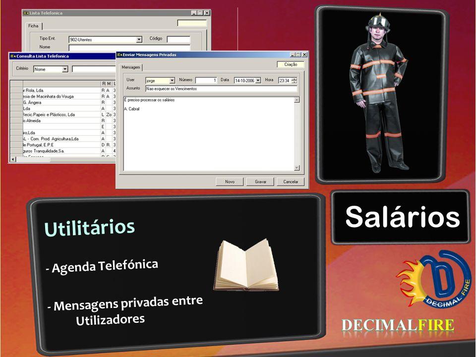 Salários Utilitários - Agenda Telefónica - Mensagens privadas entre Utilizadores