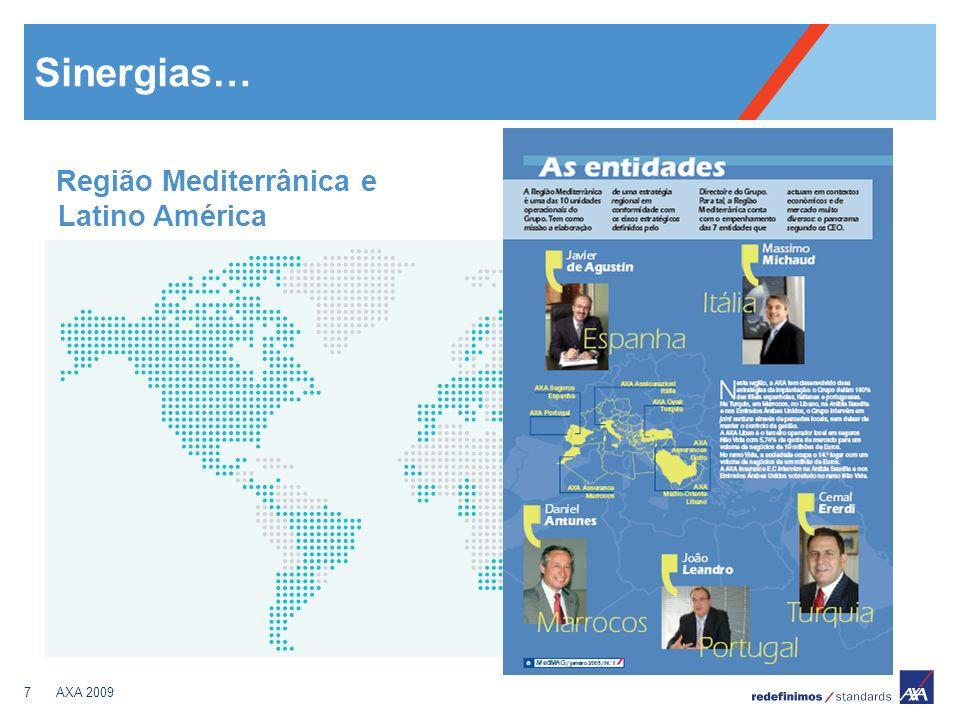 7AXA 2009 Sinergias… Região Mediterrânica e Latino América