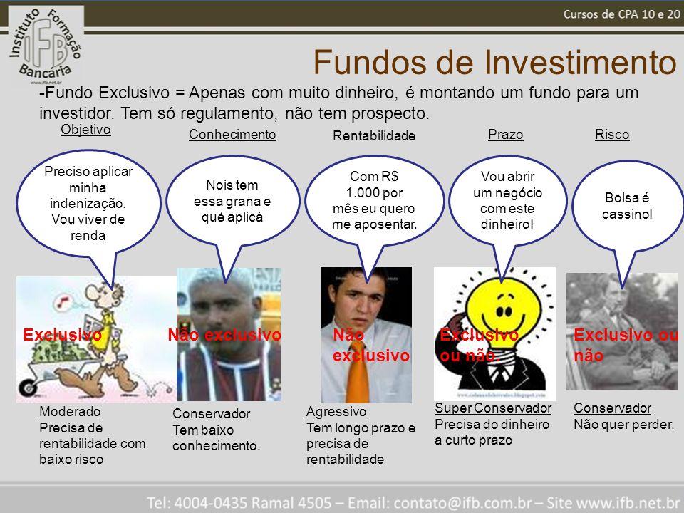 Fundos de Investimento Preciso aplicar minha indenização.
