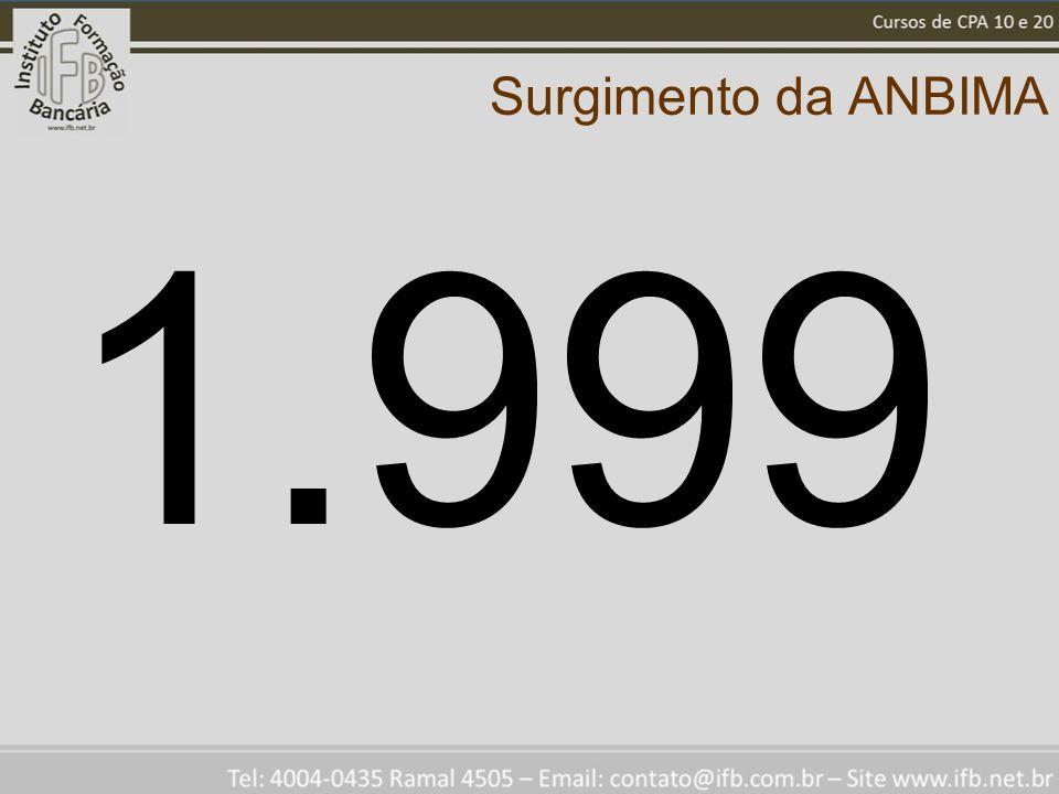 Surgimento da ANBIMA 1.999