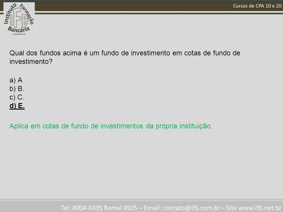 Qual dos fundos acima é um fundo de investimento em cotas de fundo de investimento.