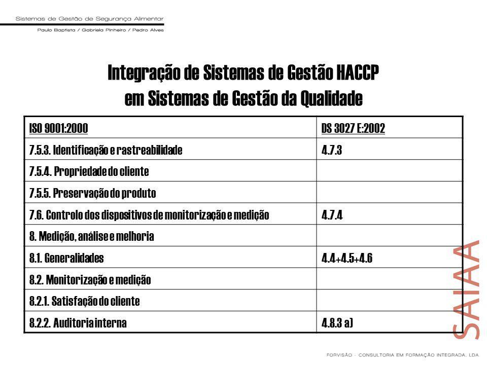 ISO 9001:2000DS 3027 E:2002 7.5.3.Identificação e rastreabilidade4.7.3 7.5.4.