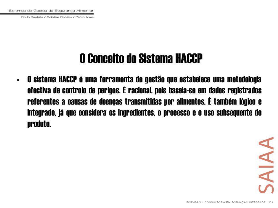 O Conceito do Sistema HACCP O sistema HACCP é uma ferramenta de gestão que estabelece uma metodologia efectiva de controlo de perigos. É racional, poi