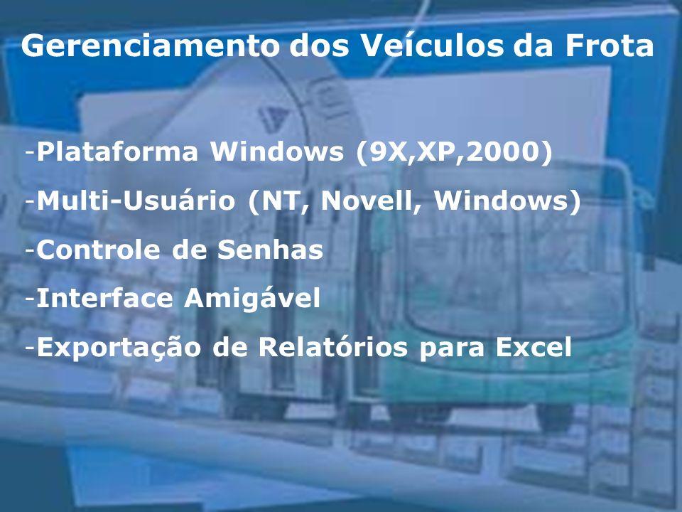 -Plataforma Windows (9X,XP,2000) -Multi-Usuário (NT, Novell, Windows) -Controle de Senhas -Interface Amigável -Exportação de Relatórios para Excel Ger