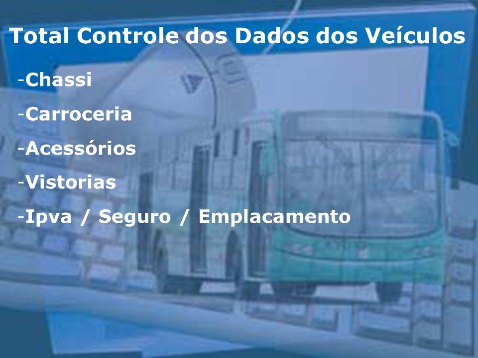 Total Controle dos Dados dos Veículos -Chassi -Carroceria -Acessórios -Vistorias -Ipva / Seguro / Emplacamento