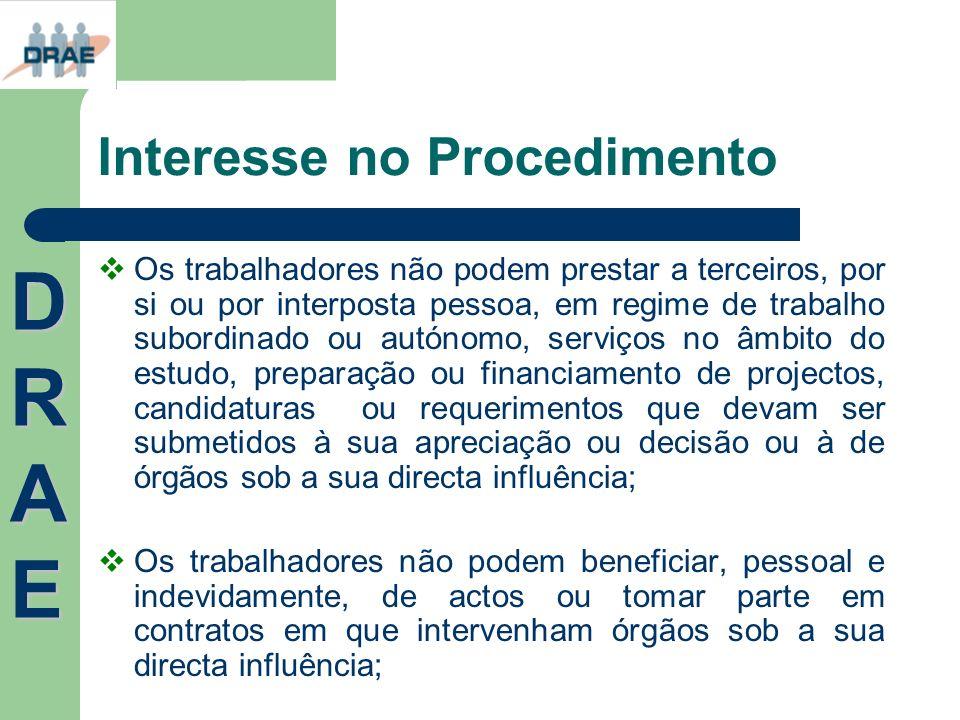 Interesse no Procedimento Os trabalhadores não podem prestar a terceiros, por si ou por interposta pessoa, em regime de trabalho subordinado ou autóno