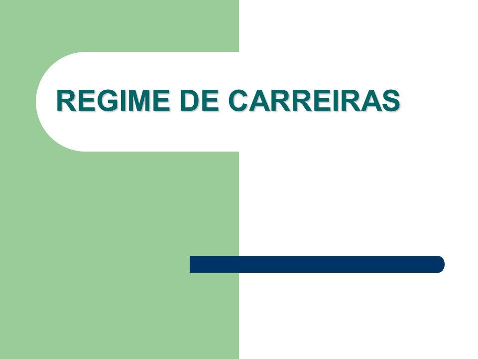 REGIME DE CARREIRAS