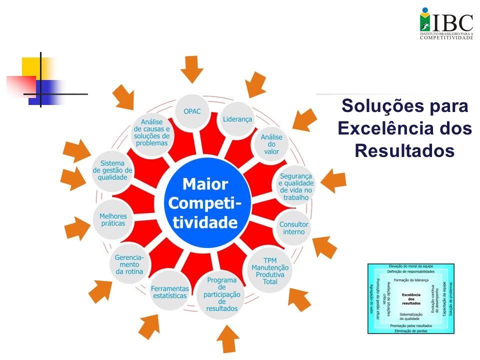 Soluções para Excelência dos Resultados Maior Competi- tividade