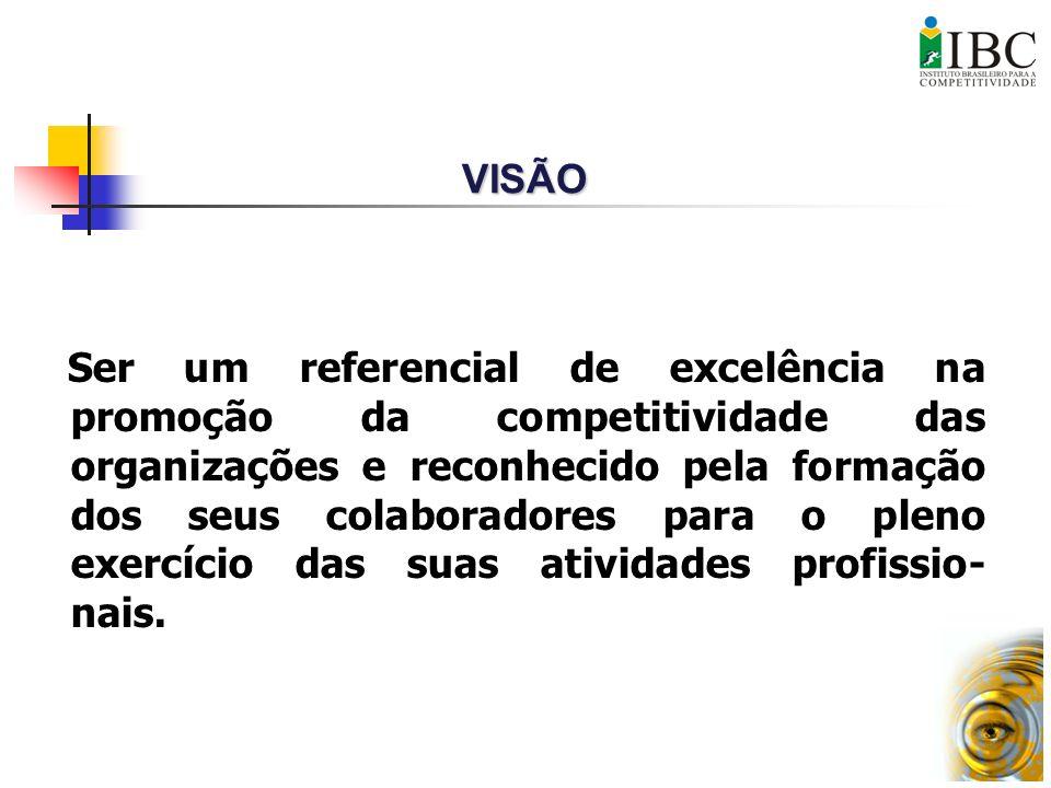 Ser um referencial de excelência na promoção da competitividade das organizações e reconhecido pela formação dos seus colaboradores para o pleno exerc