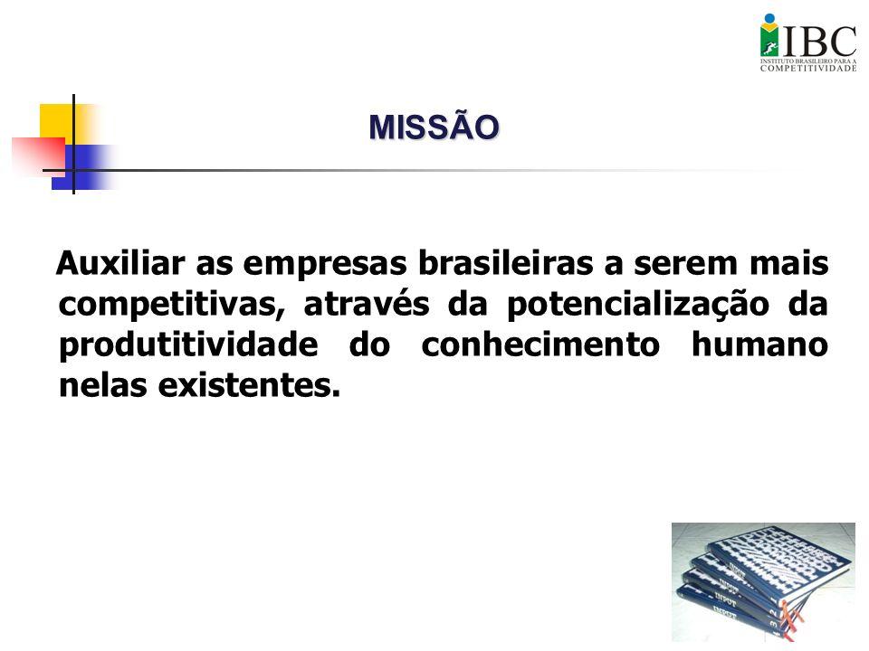Auxiliar as empresas brasileiras a serem mais competitivas, através da potencialização da produtitividade do conhecimento humano nelas existentes. MIS