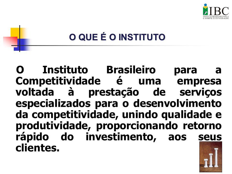 O Instituto Brasileiro para a Competitividade é uma empresa voltada à prestação de serviços especializados para o desenvolvimento da competitividade,