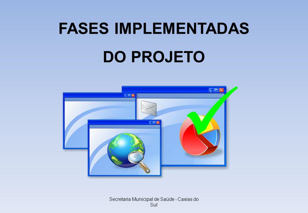 Secretaria Municipal de Saúde - Caxias do Sul FASES IMPLEMENTADAS DO PROJETO