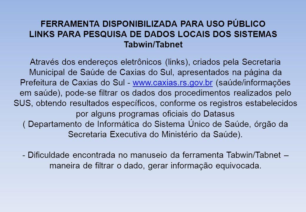 Através dos endereços eletrônicos (links), criados pela Secretaria Municipal de Saúde de Caxias do Sul, apresentados na página da Prefeitura de Caxias