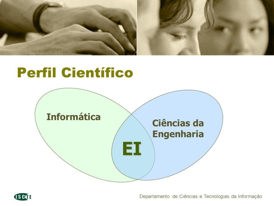 Departamento de Ciências e Tecnologias da Informação Informática Ciências da Engenharia Perfil Científico EI