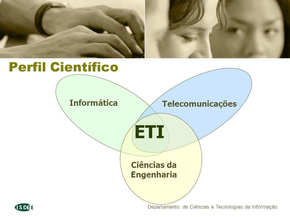 Departamento de Ciências e Tecnologias da Informação Perfil Científico Informática Telecomunicações Ciências da Engenharia ETI