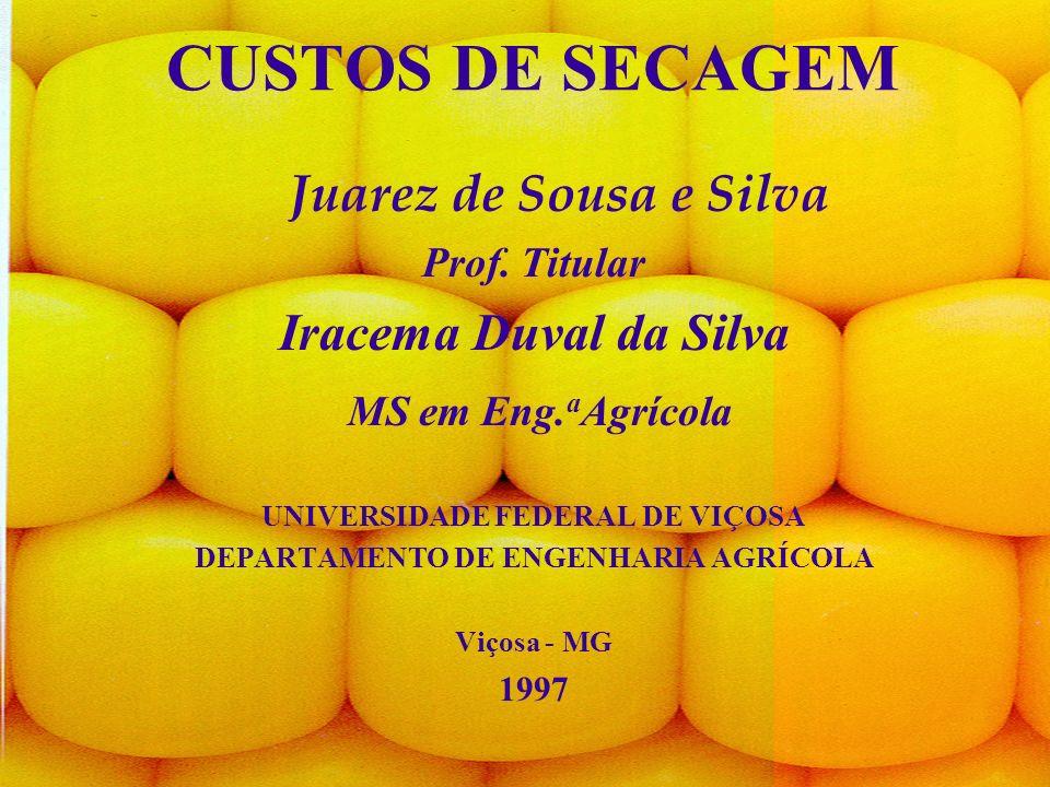2 CUSTOS DE SECAGEM Juarez de Sousa e Silva Prof.Titular Iracema Duval da Silva MS em Eng.