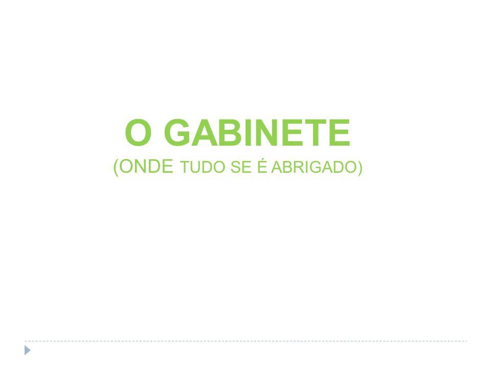 O GABINETE (ONDE TUDO SE É ABRIGADO)