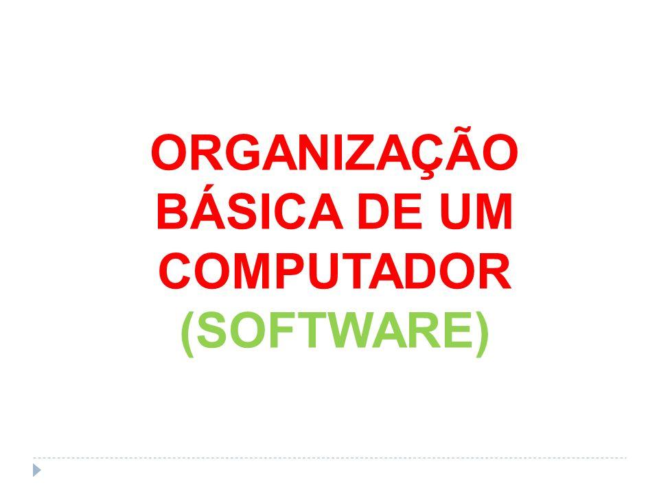 ORGANIZAÇÃO BÁSICA DE UM COMPUTADOR (SOFTWARE)