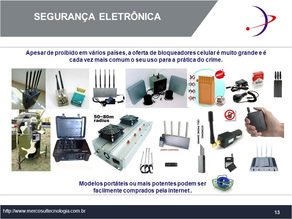 Apesar de proibido em vários países, a oferta de bloqueadores celular é muito grande e é cada vez mais comum o seu uso para a prática do crime.