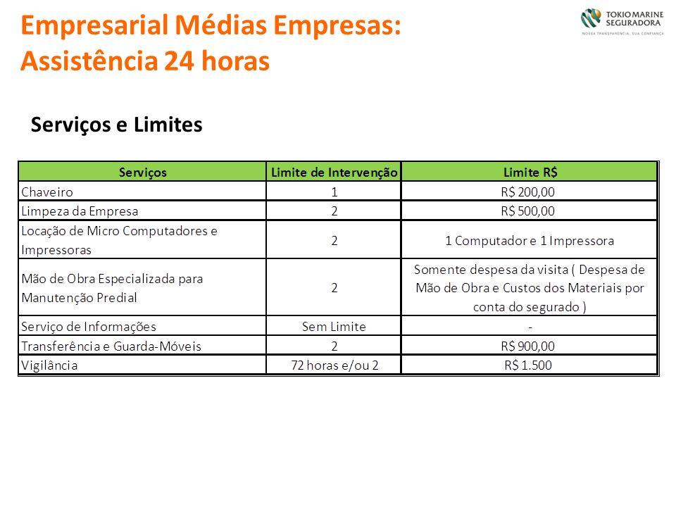 Empresarial Médias Empresas: Assistência 24 horas Serviços e Limites