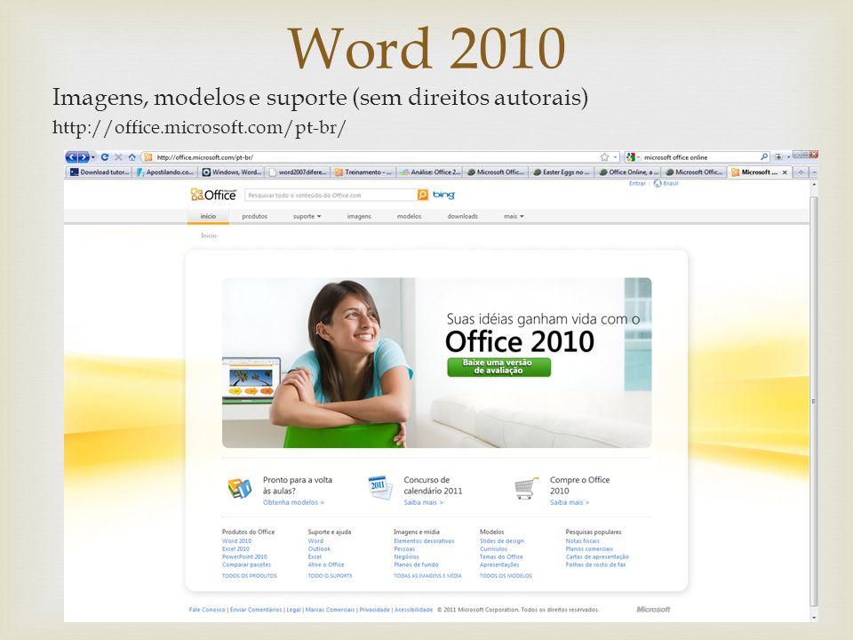 Word 2010 Ferramenta Instantâneo
