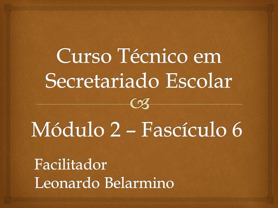CURSO TÉCNICO SECRETARIADO ESCOLAR