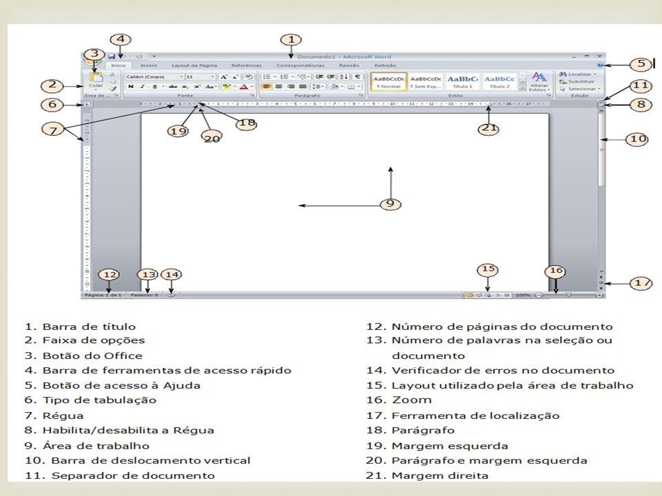 Word 2010 Treinamento na interface: Aqui a Microsoft disponibiliza treinamentos on-line dos aplicativos Office: http://office.microsoft.com/pt- br/training/default.aspx Pacote de compatibilidade Aqui os usuários do Office2003 podem pegar um pacote que permite abrir no Office2003 os arquivos os novos formatos do Office2007/2010: http://www.microsoft.com/downloads/details.aspx?Family ID=941B3470-3AE9-4AEE-8F43- C6BB74CD1466&displayLang=en