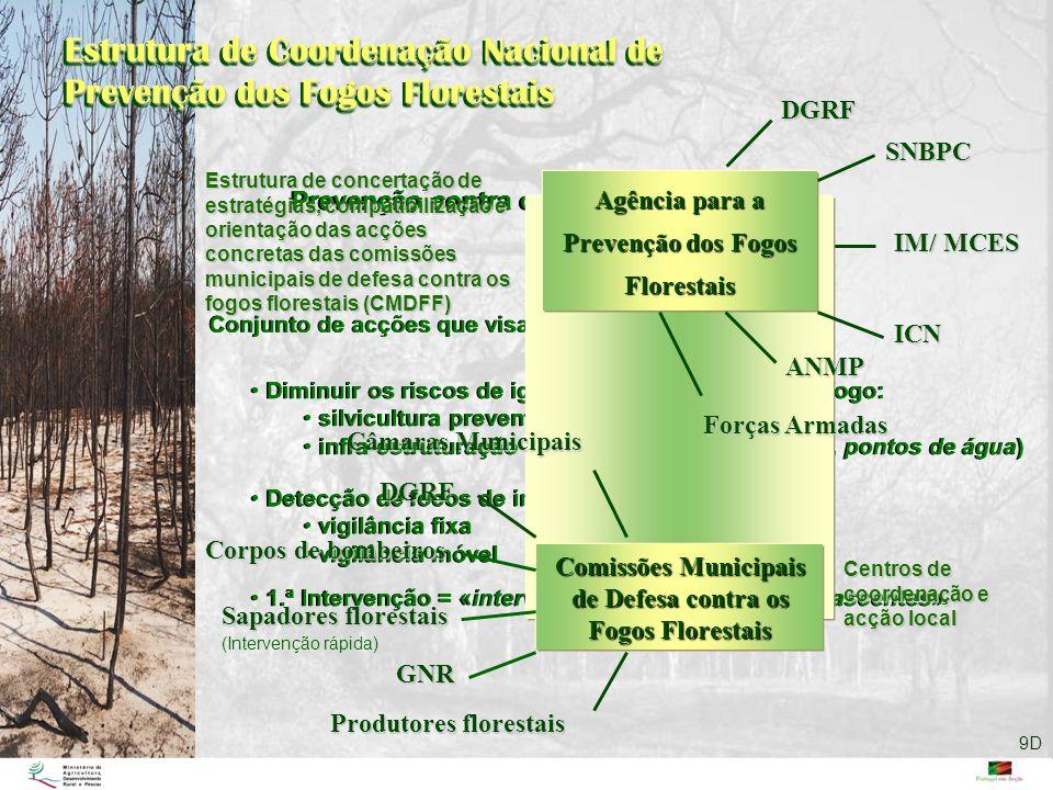 Estrutura de Coordenação Nacional de Prevenção dos Fogos Florestais Prevenção contra os fogos florestais Conjunto de acções que visam: Diminuir os ris