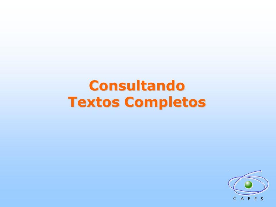 Consultando Textos Completos