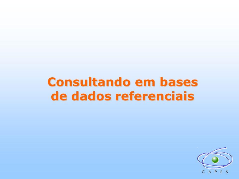 Consultando em bases de dados referenciais