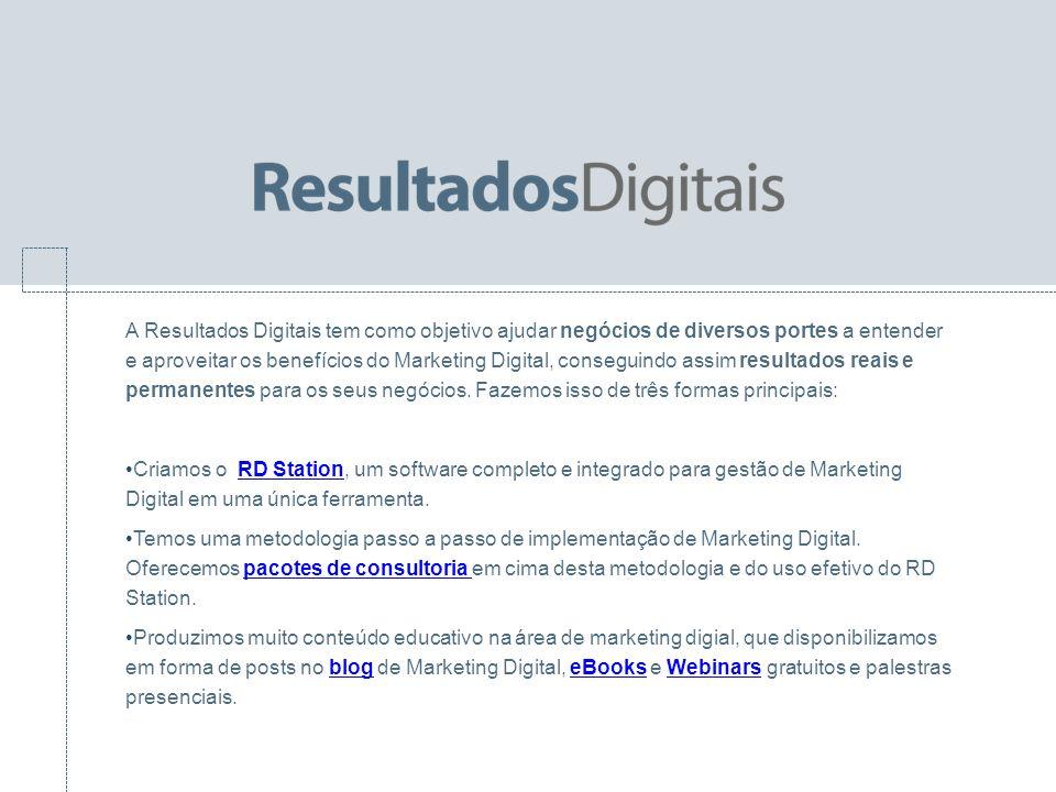 A Resultados Digitais tem como objetivo ajudar negócios de diversos portes a entender e aproveitar os benefícios do Marketing Digital, conseguindo ass